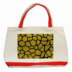 Skin1 Black Marble & Yellow Leather (r) Classic Tote Bag (red)