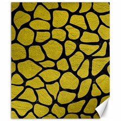 Skin1 Black Marble & Yellow Leather (r) Canvas 20  X 24
