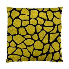 Skin1 Black Marble & Yellow Leather (r) Standard Cushion Case (one Side)