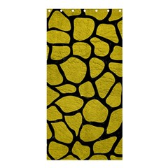 Skin1 Black Marble & Yellow Leather (r) Shower Curtain 36  X 72  (stall)