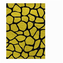Skin1 Black Marble & Yellow Leather (r) Large Garden Flag (two Sides)