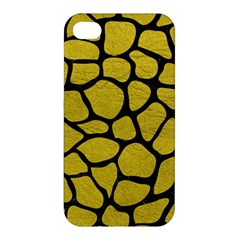 Skin1 Black Marble & Yellow Leather (r) Apple Iphone 4/4s Premium Hardshell Case