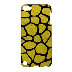 Skin1 Black Marble & Yellow Leather (r) Apple Ipod Touch 5 Hardshell Case