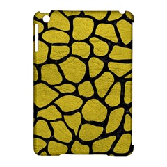 Skin1 Black Marble & Yellow Leather (r) Apple Ipad Mini Hardshell Case (compatible With Smart Cover)