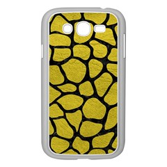 Skin1 Black Marble & Yellow Leather (r) Samsung Galaxy Grand Duos I9082 Case (white)