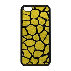 Skin1 Black Marble & Yellow Leather (r) Apple Iphone 5c Seamless Case (black)