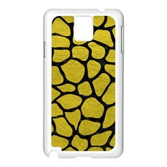 Skin1 Black Marble & Yellow Leather (r) Samsung Galaxy Note 3 N9005 Case (white)