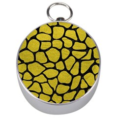 Skin1 Black Marble & Yellow Leather (r) Silver Compasses