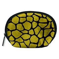 Skin1 Black Marble & Yellow Leather (r) Accessory Pouches (medium)