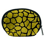 SKIN1 BLACK MARBLE & YELLOW LEATHER (R) Accessory Pouches (Medium)  Back