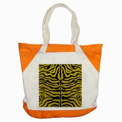 Skin2 Black Marble & Yellow Leather Accent Tote Bag