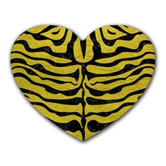 Skin2 Black Marble & Yellow Leather Heart Mousepads