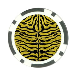 Skin2 Black Marble & Yellow Leather Poker Chip Card Guard (10 Pack)