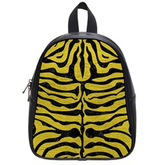 Skin2 Black Marble & Yellow Leather School Bag (small)