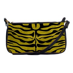 Skin2 Black Marble & Yellow Leather Shoulder Clutch Bags