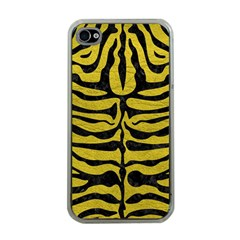 Skin2 Black Marble & Yellow Leather Apple Iphone 4 Case (clear)