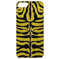 Skin2 Black Marble & Yellow Leather Apple Iphone 5 Classic Hardshell Case