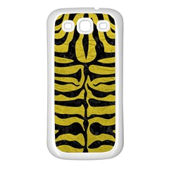 Skin2 Black Marble & Yellow Leather Samsung Galaxy S3 Back Case (white)