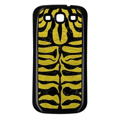 Skin2 Black Marble & Yellow Leather Samsung Galaxy S3 Back Case (black)