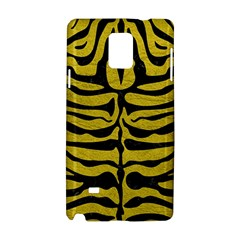 Skin2 Black Marble & Yellow Leather Samsung Galaxy Note 4 Hardshell Case