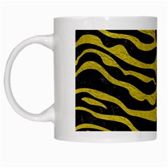 Skin2 Black Marble & Yellow Leather (r) White Mugs