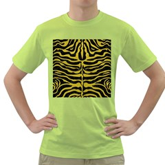 Skin2 Black Marble & Yellow Leather (r) Green T Shirt
