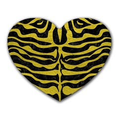 Skin2 Black Marble & Yellow Leather (r) Heart Mousepads