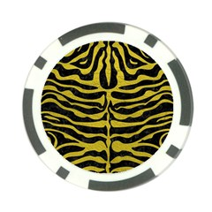 Skin2 Black Marble & Yellow Leather (r) Poker Chip Card Guard (10 Pack)