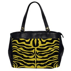 Skin2 Black Marble & Yellow Leather (r) Office Handbags (2 Sides)