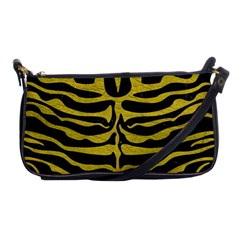 Skin2 Black Marble & Yellow Leather (r) Shoulder Clutch Bags