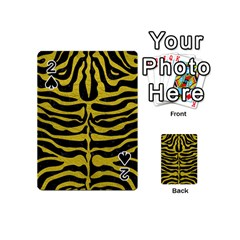 Skin2 Black Marble & Yellow Leather (r) Playing Cards 54 (mini)