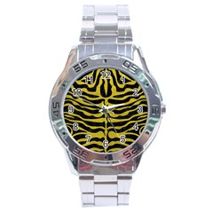 Skin2 Black Marble & Yellow Leather (r) Stainless Steel Analogue Watch
