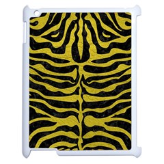 Skin2 Black Marble & Yellow Leather (r) Apple Ipad 2 Case (white)