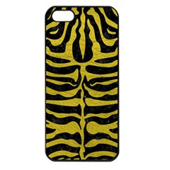 Skin2 Black Marble & Yellow Leather (r) Apple Iphone 5 Seamless Case (black)