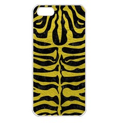 Skin2 Black Marble & Yellow Leather (r) Apple Iphone 5 Seamless Case (white)
