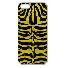 Skin2 Black Marble & Yellow Leather (r) Apple Seamless Iphone 5 Case (clear)