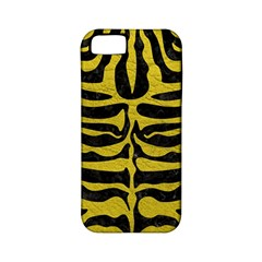 Skin2 Black Marble & Yellow Leather (r) Apple Iphone 5 Classic Hardshell Case (pc+silicone)