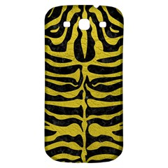 Skin2 Black Marble & Yellow Leather (r) Samsung Galaxy S3 S Iii Classic Hardshell Back Case