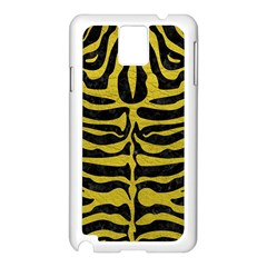 Skin2 Black Marble & Yellow Leather (r) Samsung Galaxy Note 3 N9005 Case (white)