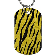 Skin3 Black Marble & Yellow Leather Dog Tag (one Side)
