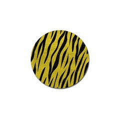Skin3 Black Marble & Yellow Leather Golf Ball Marker (4 Pack)