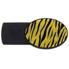 Skin3 Black Marble & Yellow Leather Usb Flash Drive Oval (2 Gb)