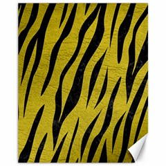 Skin3 Black Marble & Yellow Leather Canvas 11  X 14