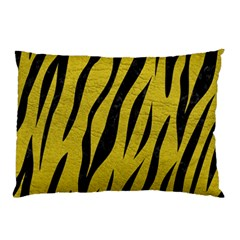 Skin3 Black Marble & Yellow Leather Pillow Case