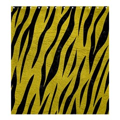 Skin3 Black Marble & Yellow Leather Shower Curtain 66  X 72  (large)