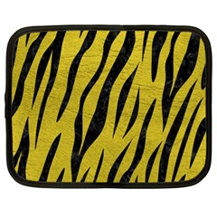 Skin3 Black Marble & Yellow Leather Netbook Case (xl)