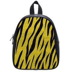 Skin3 Black Marble & Yellow Leather School Bag (small)
