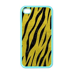 Skin3 Black Marble & Yellow Leather Apple Iphone 4 Case (color)