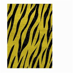 Skin3 Black Marble & Yellow Leather Large Garden Flag (two Sides)