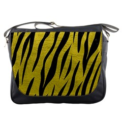Skin3 Black Marble & Yellow Leather Messenger Bags